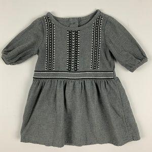 Crazy 8 Gray Flannel Southwest Crochet Dress 12-18
